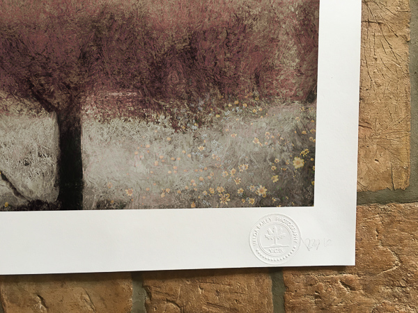 All images will be embossed with Valda's personal blind stamp for authenticity.